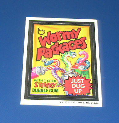 73 WACKY PACKAGES SERIES 4 TAN BACK WORMY PACKAGES      NM/MT
