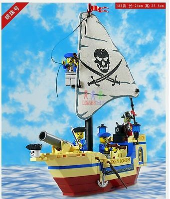 Pirates Series captain 304 Pearl Ship Pirates of the Caribbean all new 188 pcs