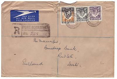 shop586 N Rhodesia Registered cover to England