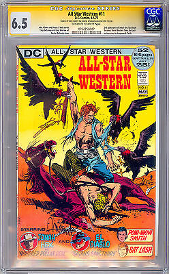All-Star Western #11 Cgc-Ss 6.5 Signed By *nick Cardy & Sergio Aragones* 1972