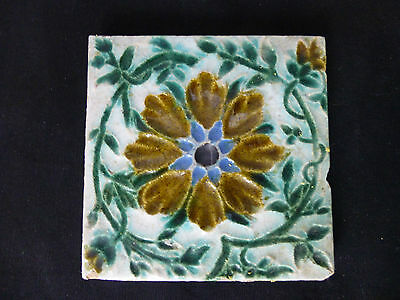 Antique,c1900,English,Medenham Pottery,Majolica Tile,Arts & Crafts