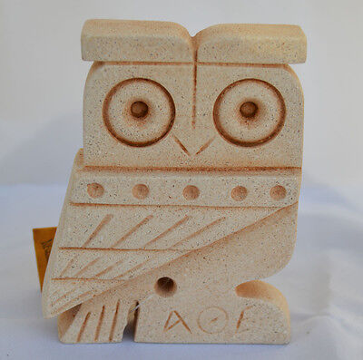 Owl Of Athens Small Statue - Ancient Greek Cycladic Art- Goddess Athena