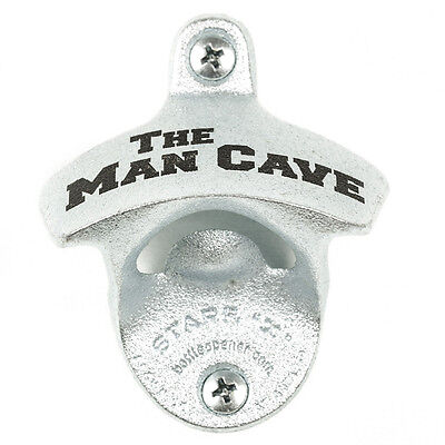 """Man cave"" new wall mounted beer bottle opener bar decor with screws"