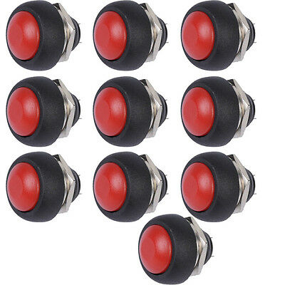 10Pcs Red Mini Round Switch 12mm Waterproof Momentary Push button Switch Sales