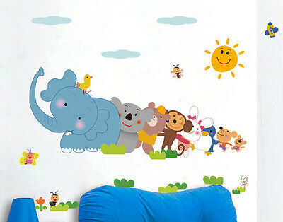 Popular Cartoon Stickers Wall Decal Sticker Removable Wall paper Home Decor