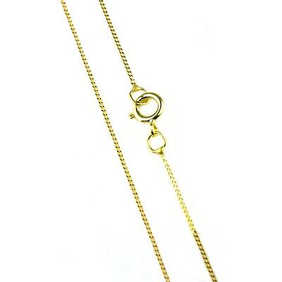 18 inch fine trace chain curb style in 9ct yellow gold