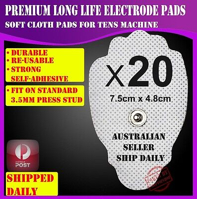 20 Electrode Pads for TENS Machine Massager CIRCULATION BOOSTER Unit CLOTH XFT