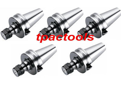 5Pc Bt40 Er16 Precision Collet Chuck 20000 Rpm New Tenth Accuracy