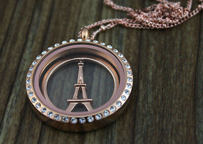 HOT sell 2014 Window rose gold Plate FOR FLOATING CHARM GLASS 30mm LOCKETS/e1629