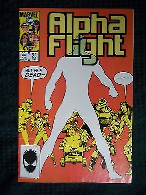 Marvel Comics # 25 1985 ALPHA FLIGHT