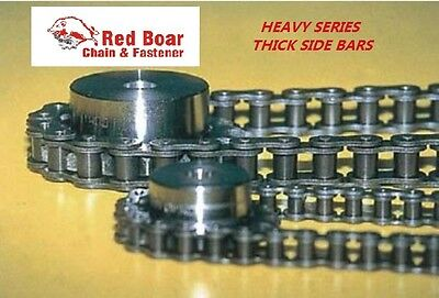 #60H Heavy Roller Chain 10Ft W/free Connecting Link #60H-1R X 10Ft Riveted