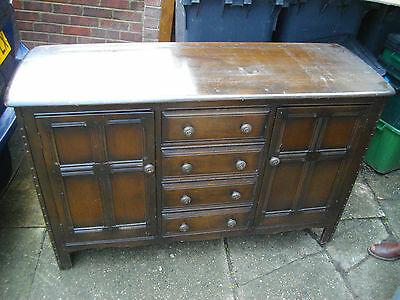 A Lovely Wooden DRESSER ERCOL Side Cabinet  2 x double doors and 3 draws