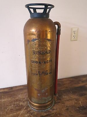 "ANTIQUE INDUSTRIAL GENERAL ""QUICK AID"" TS-15 BRASS FIRE EXTINGUISHER"