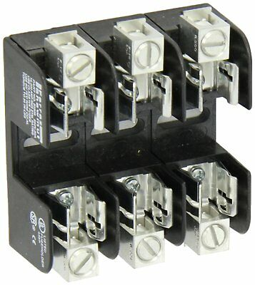 MERSEN 20308 One-Time Class K-5 Fuse Block 250V 0-30 Amp 3 Pole