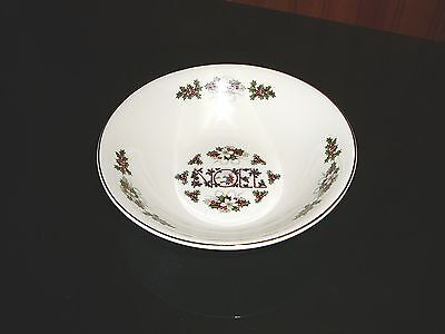 """Wood & Sons Noel Cereal / Soup Bowl 6.5"""" DIAMETER ENGLAND MADE"""
