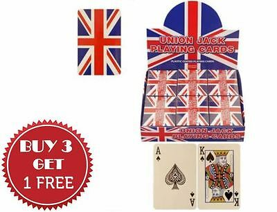 Sealed Union Jack Flag Poker Playing Cards Full Deck Buy 3 Get 1 Free
