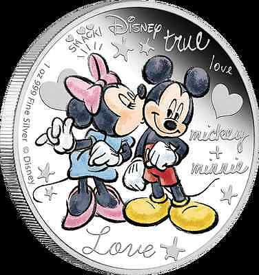 2015 Crazy in Love 1 oz Silver Coin Mickey and Minnie Disney  **New  Great Gift!