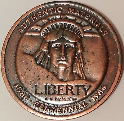Statue of Liberty Centennial Medal (1886-1986), Authentic Materials
