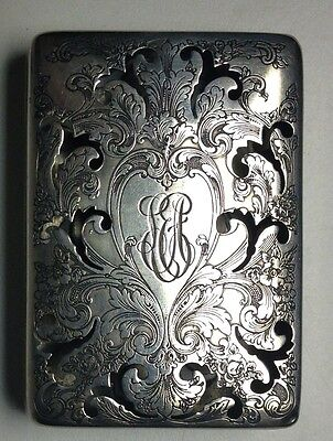 Vintage Sterling Silver Reed and Barton Engraved Victorian Calling Card