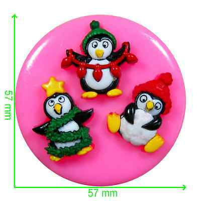 Christmas Penguins Silicone Mould by Fairie Blessings