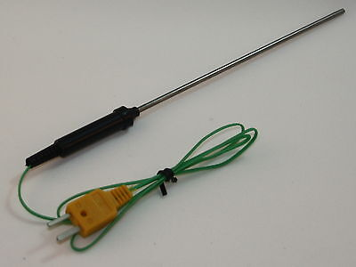 "K-Type Thermocouple with 6"" Stainless Steel Sensor for Digital Thermometer TC-7"