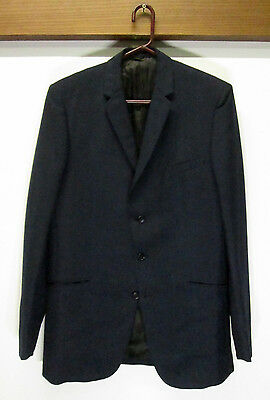 vtg Men's Alexandre Dark Blue English Mohair 3 Button Blazer sz 38 L