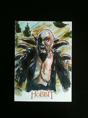 The Hobbit Unexpected Journey Cryptozoic 1/1 Sketch Card Dan Gorman Yazneg
