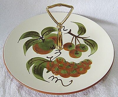 STANGL ORCHARD SONG  SERVER PLATE WITH HANDLE - 10 INCHES