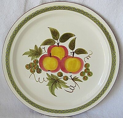 STANGL APPLE DELIGHT CHOP PLATE - 12 INCHES