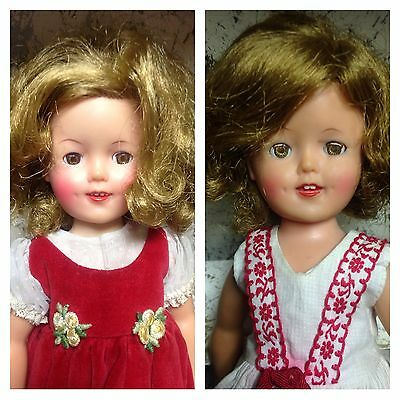 2 SHIRLEY TEMPLE 1950'S ST-12 DOLLS, MANY OUTFITS/SHOES/CASE. AMAZING FIND