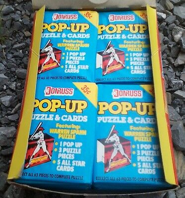 1987, 1988, 1989 Donruss Pop-Ups Wax Boxes - One Box Of Each: