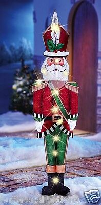 "44"" Tall Lighted Santa Claus Christmas Holiday Outdoor Yard Stake Decoration"