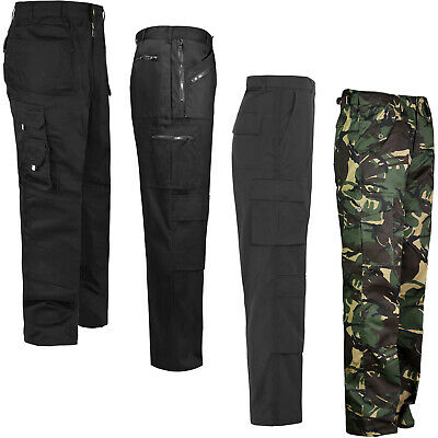 Mens Workwear Trousers Work Wear Combat Pants Bottoms Tough Stitched Belt Loops