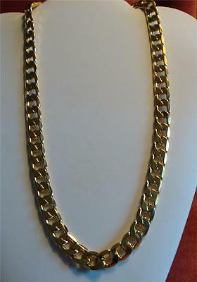 "510 Cts 18k Yellow Gold Filled Men's 23.75"" High Quality Classy Chain Necklace"