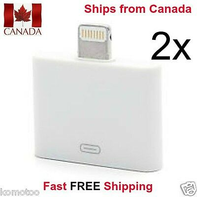 2x 30 to 8 Pin For iPhone Dock Connector Adapter Converter