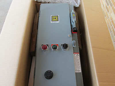 Square D Schneider 8538SBG32 Combination Motor Starter 3 HP With Encl NEW!!!
