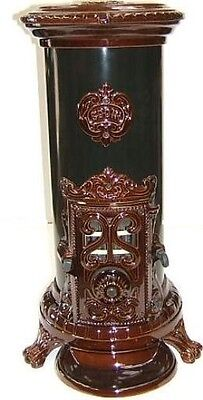 NEW 5 kw Godin 3720 Antique Style Cast Iron Wood Coal Multifuel Stove Brown
