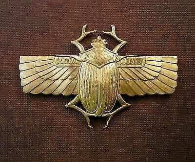 X-Large Raw Brass Scarab Stamping (1) - FF2926-1 Jewelry Finding
