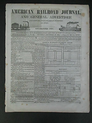 AMERICAN RAILROAD JOURNAL Dec 25, 1845, Illustrated