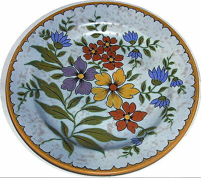 GOUDA HOLLAND UNIQUE 2965/25 HAND PAINTED FLORAL PLATE 10""