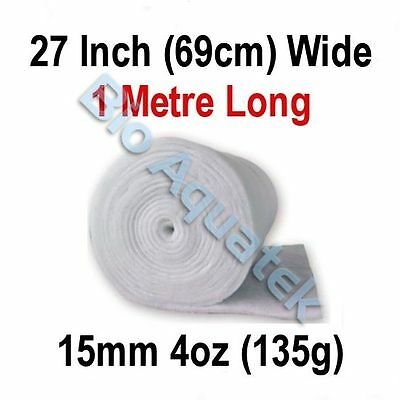 1 Metre / 1m Dacron Aquarium Pond Filter Media Floss Wool Wadding - 15mm / 4oz