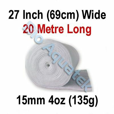 20 Metre / 20m Dacron Aquarium Pond Filter Media Floss Wool Wadding - 15mm / 4oz