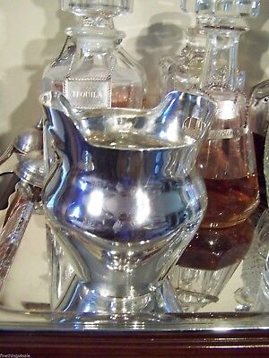 European Sterling Silver Ice Bucket In A Wine Champagne Chiller Bucket Urn Form