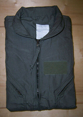 US Military NOMEX CWU-27/P Flight Suit Sage Green Size 44S New