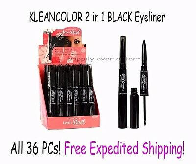 Black Liquid & Pencil Eyeliner - Wholesale Lot of 36 PCs - Kleancolor Cosmetic