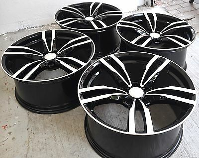 """19"""" New Bmw M3 M4 Style Black Staggered Wheels Rims Fits 1 3 4 5 Series 5468"""