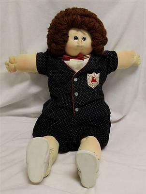 The Little People Soft Sculpture Doll Boy Brown Hair - Blue Eyes Freckles Extras