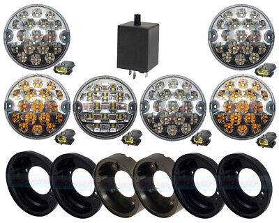 Land Rover Defender Nas 6 Rear 95Mm Clear Led Lamp/light Upgrade Kit Rdx Wipac