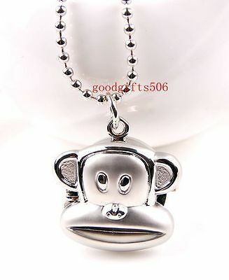 Wholesale Gifts 5 pcs Cute Monkey Design Necklace Pendant watches R29-FREE SHIP