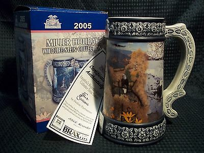 MILLER 2005 America's Majestic Wildlife 4 Seasons Collector Stein NEW in Box